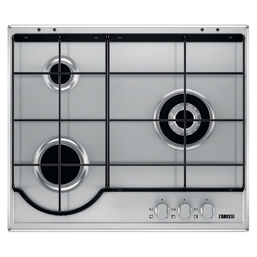 Zanussi ZGGXA Integrado Encimera de gas Acero inoxidable hobs Placa Integrado Encimera