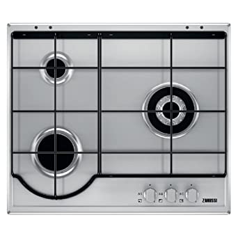 Zanussi ZGG65334XA hobs Acero inoxidable Integrado Encimera de gas - Placa (Acero inoxidable, Integrado, Encimera de gas, Acero inoxidable, 1000 W, ...