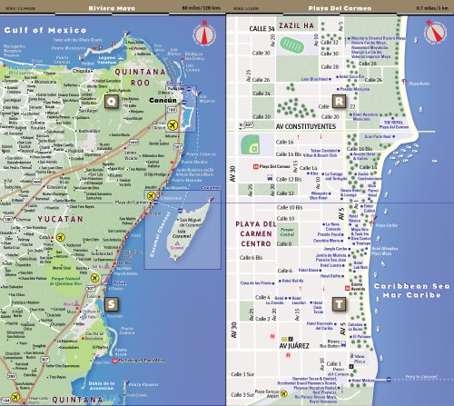 Cancun Quintana Roo Mexico Map.Streetsmart Cancun Yucatan Riviera Maya Map By Import It All