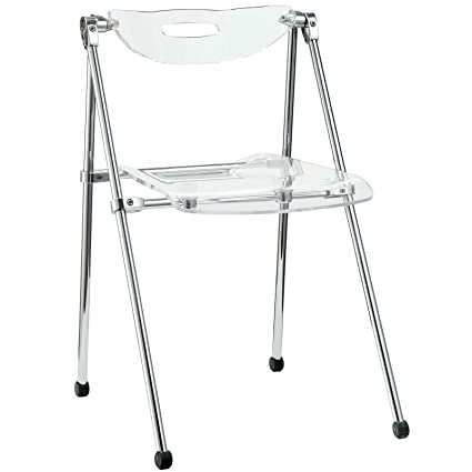 Attractive Modway Telescoping Chair In Clear