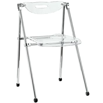 Modway Telescoping Chair In Clear