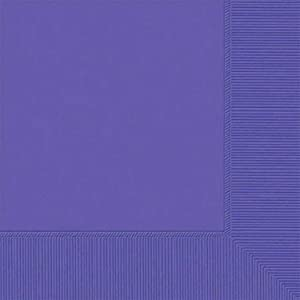 Amscan 2-Ply New Purple Beverage Napkins, 50 Ct. | Party Tableware