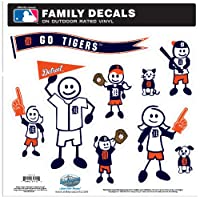 MLB Detroit Tigers Large Family Decal Set