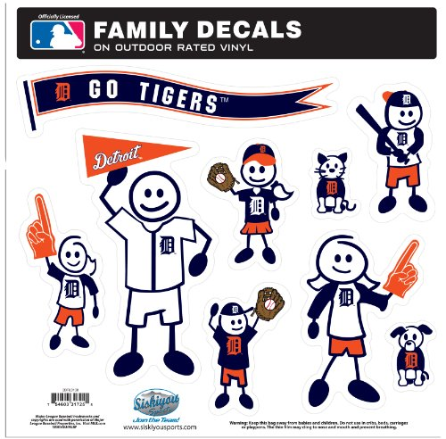 Siskiyou MLB Detroit Tigers Large Family Decal -
