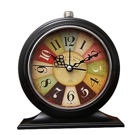 CLHXZE Reloj de Mesa Retro/Reloj de Escritorio - Reloj de Silencio ...