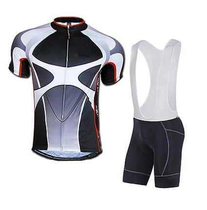 sponeed Men s Cycle Bib Shorts Padded Bike Riding Kits Outfit Asia L US M  Gray b311dd780