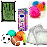 Adorox Ultimate Toy Gift Set 4Pk. Sport Ball 6Pk. Puffer Ball 1Pc. Pin Art 1Pc. Water Timer 3Pk. Grass Tinsel Deluxe Party Pack By
