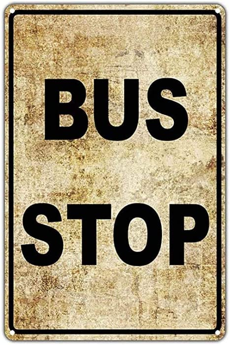 Inga Bus Stop No Car Parking Public Transportation Vintage Metal Sign 8x12 inches
