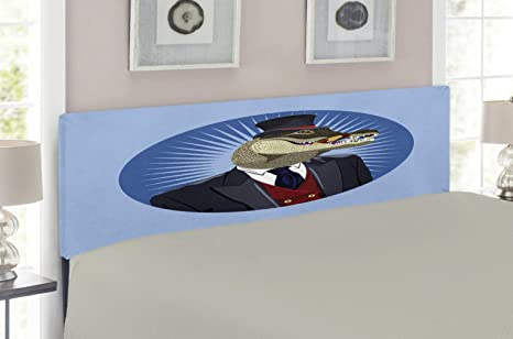 Amazon.com: Lunarable Alligator Headboard, Portrait of ...