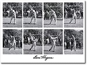 YGYT Canvas Wall Art for Ben Black and White Famous Hogan Golf Shot Icon Print on Canvas Sports Poster for Home Living Room Bedroom | Unframed | 24x32inches