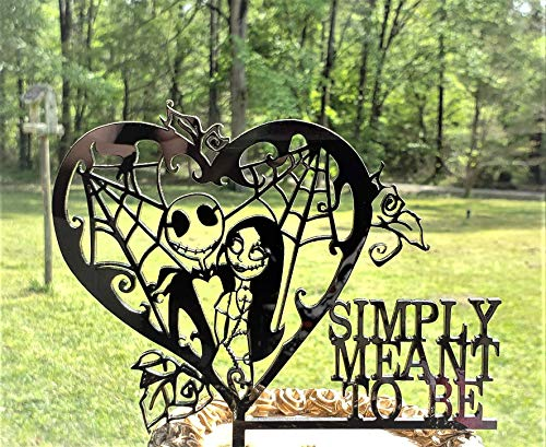 Jack And Sally Wedding (simply meant to be- Jack and Sally Heart cake topper for)
