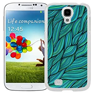 Wavy Abstract Blue (2) Durable High Quality Samsung Galaxy S4 I9500 Case