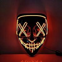 USCVIS Halloween LED Máscaras, Adultos LED Mask Craneo Esqueleto Mascaras para la Fiesta de Disfraces, la Navidad…