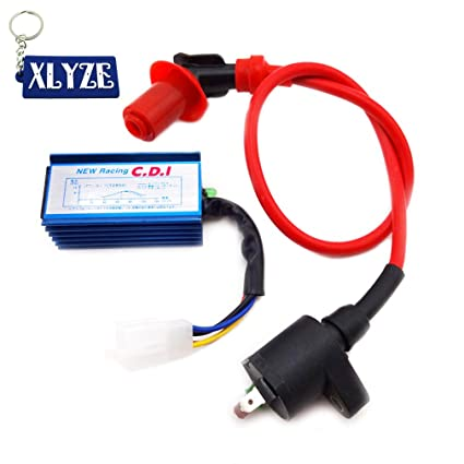 Amazon com: XLYZE Racing 5 Pin AC CDI + Ignition Coil For Scooter