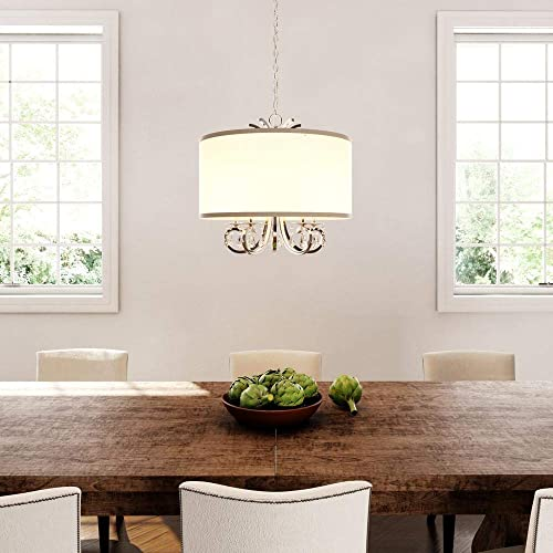 Home Decorators Collection 5-Light Polished Nickel Drum Pendant Chandelier