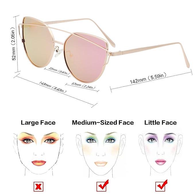 vivienfang Love Punch soporte de lentes espejo Cateye Gafas ...