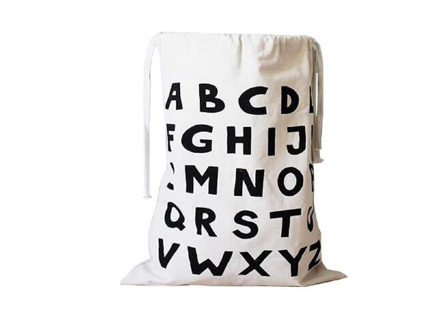 Canvas Laundry Large Drawstring Alphabet Bag Hamper Organizers Storage for Kids Toys, Baby Clothing, Children Books, Gift Bag Bg mini