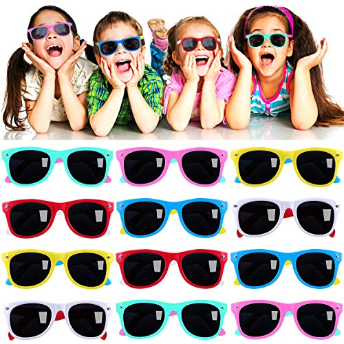 Kids Sunglasses Party Favors in Bulk, 12Pack Neon