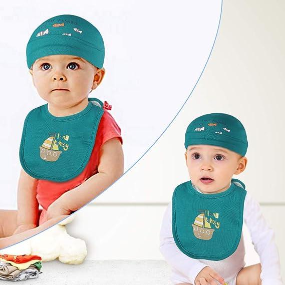 Green 100/% Cotton 3 pcs Bibs Lictin Newborn Unisex Baby Cotton Caps Mittens Bib 3 Pairs Baby Scratch Mittens Gloves for Baby 1-6 Months 3pcs Baby Cotton Caps Hats