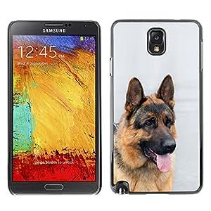 VORTEX ACCESSORY Hard Protective Case Skin Cover - German shepherd canine dog king - Samsung Galaxy Note 3 N9000 N9002 N9005