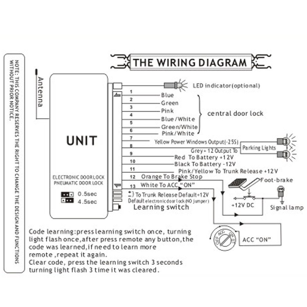 Universal Power Door Lock Wiring Diagram