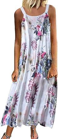 Womens Summer Dresses Floral Print V-Neck Spaghetti Strap Mini Swing Skater Dress with Pockets Sleeveless Sundress Pleated Beach A-Line Dress mounter