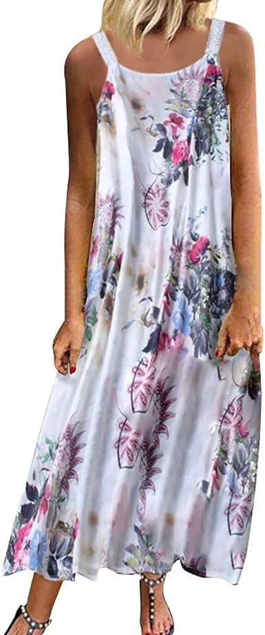 Aini Vestidos Verano Mujer Vestido Estampado De Flores Vestido De ...