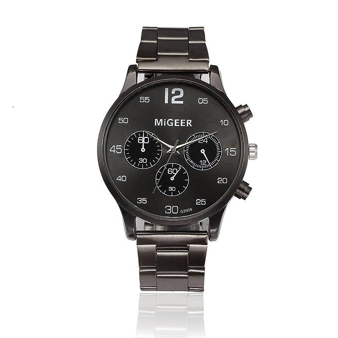 Yvelands Reloj de Pulsera de Cuarzo analógico de Acero Inoxidable cristalino Liquidación Fashion Man (tamaño Libre,Blanco): Amazon.es: Ropa y accesorios