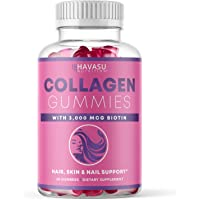 Havasu Nutrition Collagen Gummies Formulated with Collagen & Biotin to Support Hair, Skin, and Nail Growth for Men…
