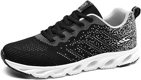 Shoe house Zapatillas de Running para Hombre, de Malla, Transpirables, Ligeras, para Deportes, Caminar, Entrenamiento, B, EU43=US8.5(M): Amazon.es: Deportes y aire libre