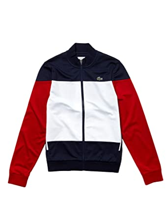 0f9e9b3509 Lacoste SH3550 Homme Veste de survêtement,Monsieur Sweat zippé,Navy  Blue/White-