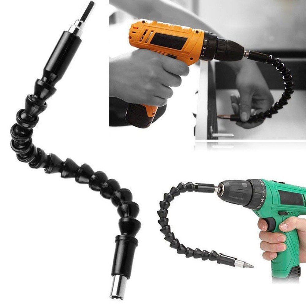 Flexible Shaft Bits Extention Screwdriver Drill Bit Holder Connecting Link (Black) routinfly