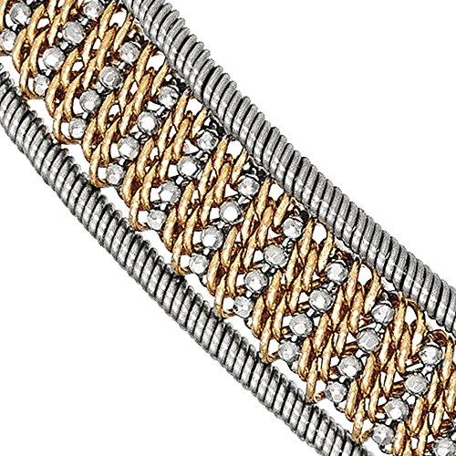 Argent sterling Rose-Tone Bracelet Texturé en maille-19,1cm-16
