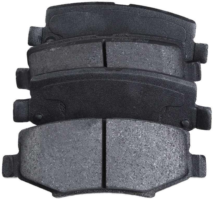 Auto Shack RSMK63046-63046-1274-2-4 Rear Brake Rotors and Semi Metallic Pads