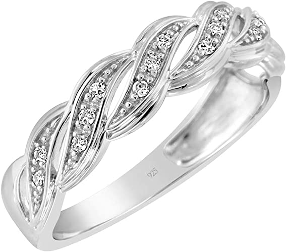 USA Seller Twisted Wave Ring Sterling Silver 925 Jewelry Best Price Selectable