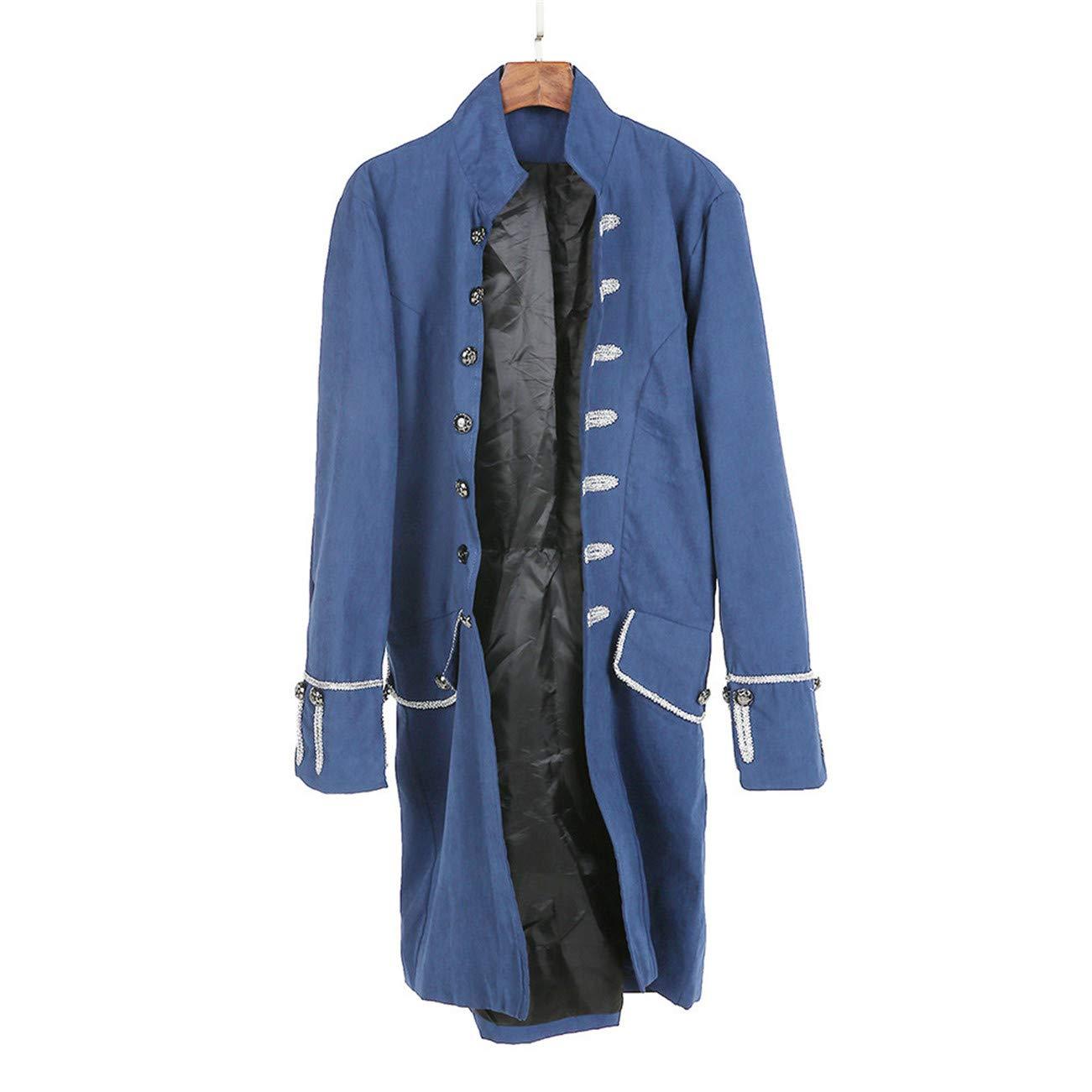cbbd418846c Blouson Homme Hiver Manteau Impression Habit Veste Redingote Gothique  Costume Uniforme Hommes Praty Outwear