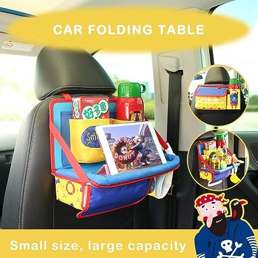 Todaytop Kinder Auto Knietablett Multifunktional Reisetisch Einstellbar Klapptisch f/ür das Auto Zubeh/ör f/ür Auto-Babysitze