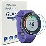 Poyiccot for Garmin Forerunner 45/45S Tempered Glass Screen Protector (2pack) Ultra-Thin 9H Hardness Scratch Resistant Screen Protector Film forGarmin Forerunner 45/45S Smartwatch