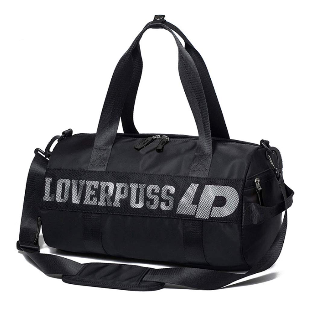ZXW Travel Bag Color : Cool Black Sports Fitness Bag Training Yoga Bag Dry and Wet Separate Swimming Bag Shoulder Diagonal Tote
