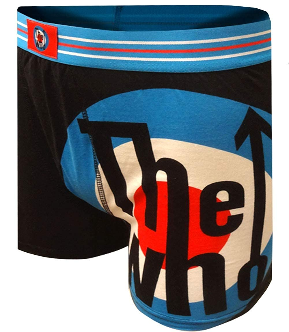 Mad Engine Mens The Who Rock Band Black Boxer Briefs