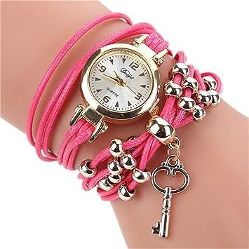 Women Watches Bracelet Watch Ladies Fashion Womens Dress Watches Slim Leather Circle Band Gold Dial Quartz