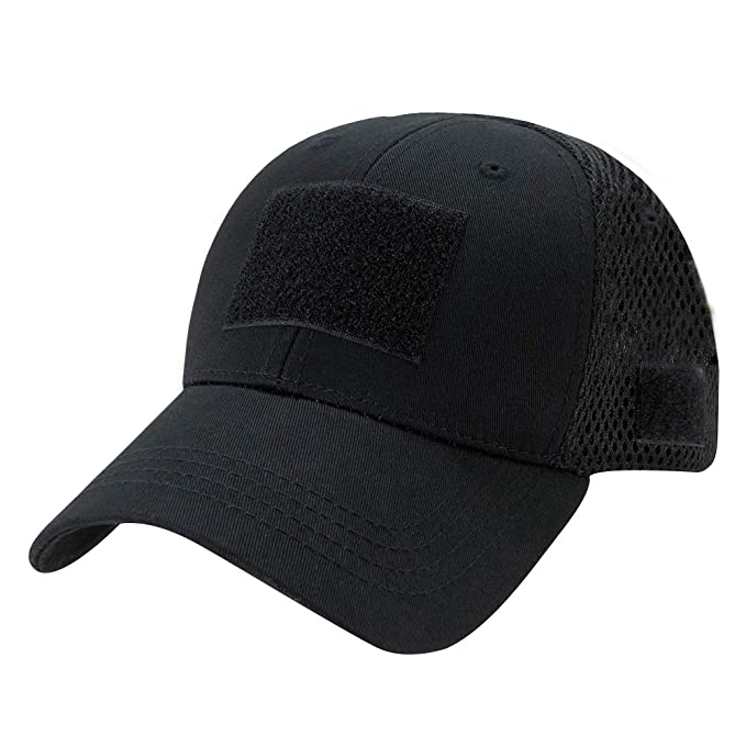756ad71f1dbedc Rapid Dominance Low Crown Air Mesh Tactical Cap With Loop Patch - Black