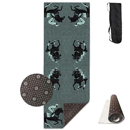 Amazon.com: Carriage Trade Horse,Yoga Mat Made to Measure ...