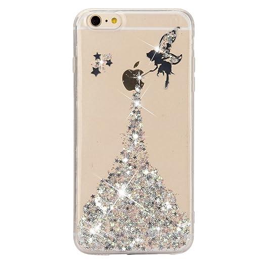 27 opinioni per Cover iPhone 7, Sunroyal® Crystal Clear Glitter di Bling Custodia Ultra Slim