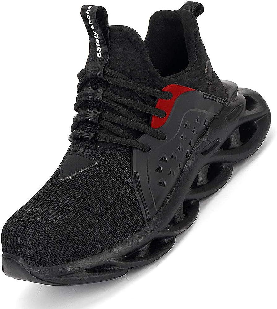 MandyQ Steel Toe Shoes Men Work Safety