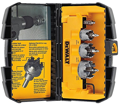 (DEWALT DWACM1802 Metal Cut Carbide Holesaw Set, 3 Piece)