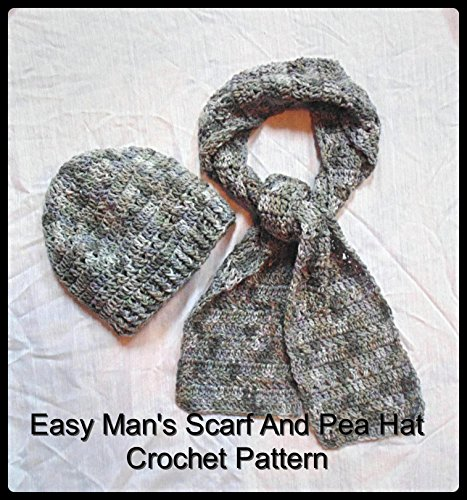 Easy Man's Scarf and Pea Hat Crochet Pattern