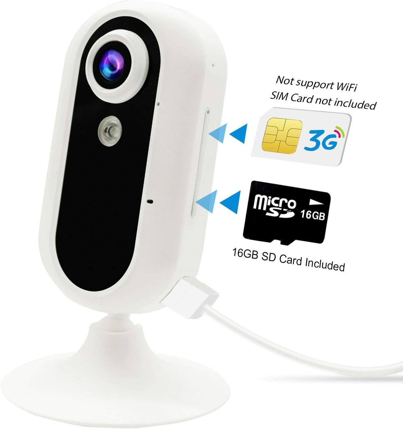 3G Cámara de Vigilancia, Jimi Cámara de Interior Seguridad Móvil con Video en Vivo/Visión Nocturna/De Dos Vías Audio/Movimiento/Detección de Sonido/Monitoreo de Mascotas GM01N: Amazon.es: Bricolaje y herramientas