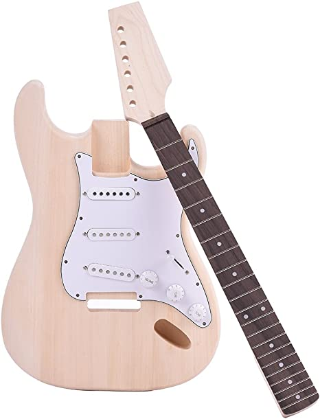 ammoon Guitarra Eléctrica Estilo ST Cuerpo de Tilo Maple Neck ...