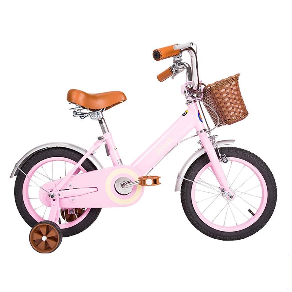 女の子用自転車 12,14,16インチ 自転車 3-8歳 子供用自転車 ピンクバイク クイックブレーキ 安全 安定性 自転車 子供用ギフト 12inches ピンク B07P38QKH2